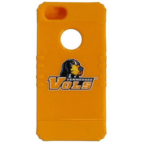 Tennessee Volunteers Rocker Series Orange Hard Case Shell on Orange Silicone Skin Case for Apple iPhone 5/5S - NCAA Licensed