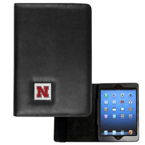 Nebraska Cornhuskers Black Faux Leather Folio Case for Apple iPad Mini 1/2/3 - NCAA Licensed