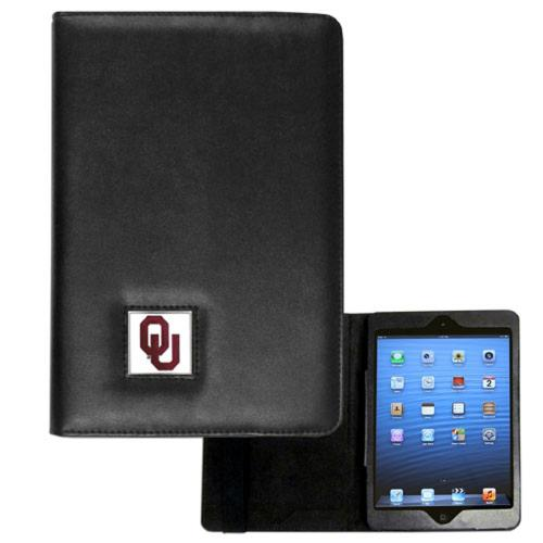 Oklahoma Sooners Black Faux Leather Folio Case for Apple iPad Mini 1/2 - NCAA Licensed