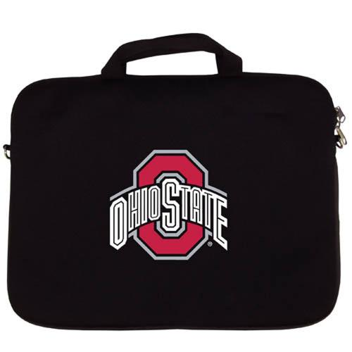 "Ohio Buckeyes Black Neoprene Laptop Case for 15"" Laptops - NCAA Licensed"