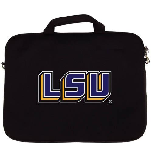 "LSU Tigers Neoprene Laptop Case Black Neoprene Laptop Case for 15"" Laptops - NCAA Licensed"