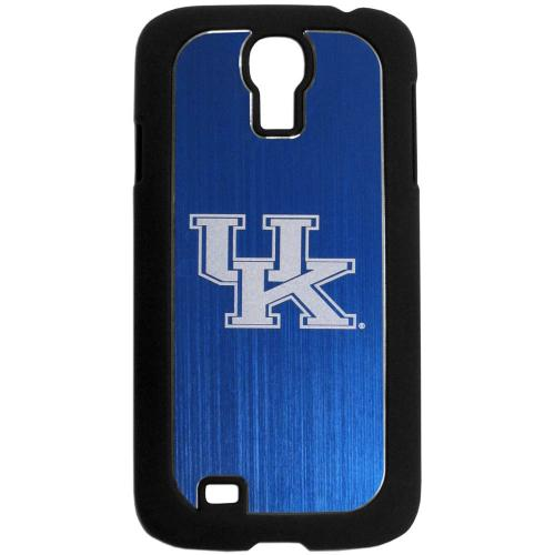 Kentucky Wildcats Black Rubberized Hard Tough Case w/ Etched Engraved Back for Samsung Galaxy S4 - NCAA Licensed
