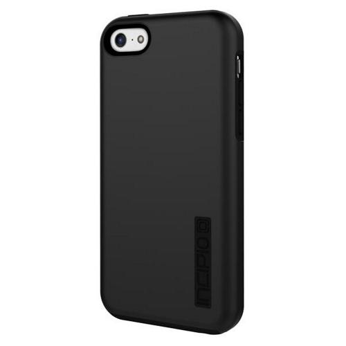 Incipio Black Dual PRO Series Rubberized Hard Case on Silicone Skin for Apple iPhone 5C - IPH-1145-BLK