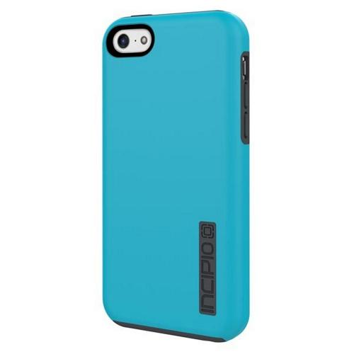 Incipio Cyan (Turquoise)/ Gray Dual PRO Series Rubberized Hard Case on Silicone Skin for Apple iPhone 5C - IPH-1145-CYN