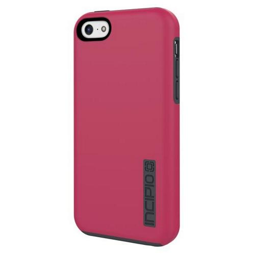 Incipio Hot Pink/ Gray Dual PRO Series Rubberized Hard Case on Silicone Skin for Apple iPhone 5C - IPH-1145-PNK