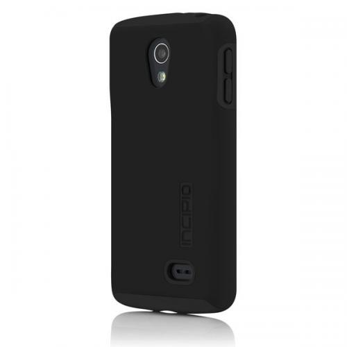 Incipio Black Dual PRO Series Rubberized Hard Case on Black Silicone for LG Lucid 3 - LGE-234-BLK