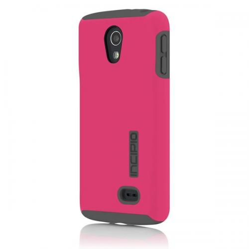 Incipio Hot Pink Dual PRO Series Rubberized Hard Case on Gray Silicone for LG Lucid 3 - LGE-234-PNK