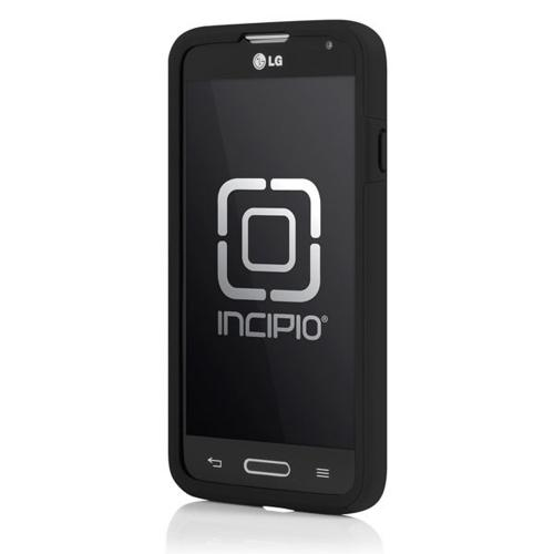 Incipio Black LG Optimus Exceed 2/ LG L70 Dual PRO Series Matte Rubberized Hard Case Cover on Black Silicone Skin - LGE-236-BLK - Awesome Protection!