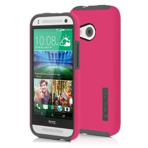 Incipio Hot Pink/ Gray HTC One Remix Dual PRO Series Rubberized Hard Case on Silicone Skin {HT-403-PNK} - Awesome Protection!