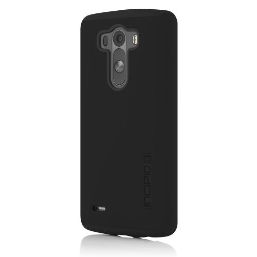 Incipio Black LG G3 Dual PRO Series Matte Rubberized Hard Case Cover on Black Silicone Skin Case - LGE-238-BLK - Awesome Protection!