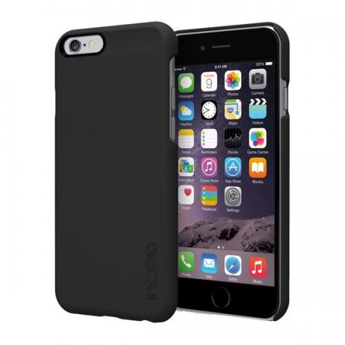 "Incipio Black Apple iPhone 6 (4.7"") Feather Series Ultra Thin Rubberized Hard Cover Case {IPH-1177-BLK} - Perfect for Minimalists!"