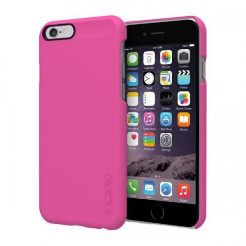 Incipio Pink Feather Series Ultra Thin Rubberized Hard Cover Case Made for Apple iPhone 6 (4.7 inch) {IPH-1177-PNK} - Perfect for Minimalists!