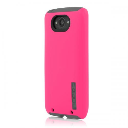 Incipio Pink / Gray Motorola Droid Turbo Dual PRO Series Dual Layer Rubberized Hard Case on Silicone Skin Case- Great Dual Layer Protection!