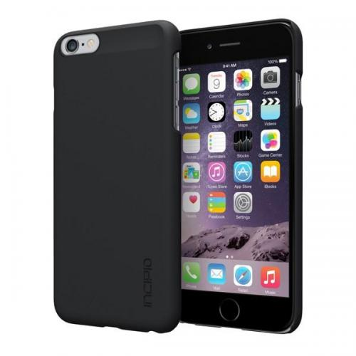 Incipio Black Feather Series Ultra Thin Rubberized Hard Cover Case Made for Apple iPhone 6 Plus (5.5 Inch) {IPH-1193-BLK} - Perfect for Minimalists!