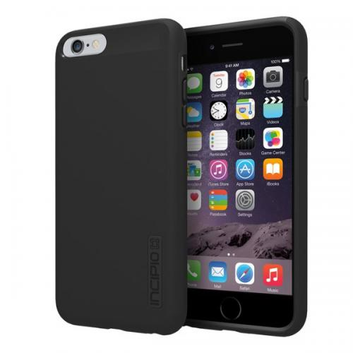 Incipio Black Apple iPhone 6 Plus Dual PRO Series Rubberized Hard Case on Silicone Skin Case {IPH-1195-BLK} - Fantastic Protection!