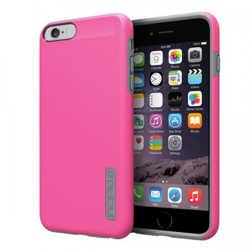 Apple iPhone 6 PLUS/6S PLUS (5.5 inch) Case, Incipio [Hot Pink/ Gray] Dual Pro Series Featuring Rubberized Hard Case On Silicone Skin