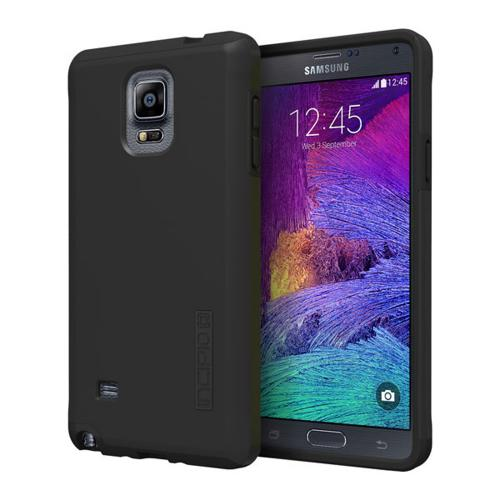 Incipio Black Samsung Galaxy Note 4 Dual PRO Series Dual Layer Rubberized Hard Case on Silicone Skin Case {SA-579-BLK} - Great Protection!