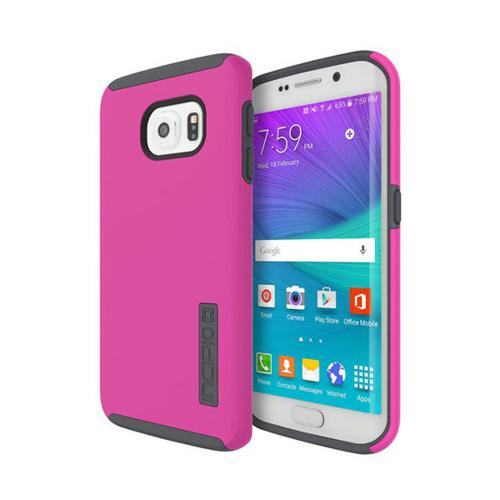 Samsung Galaxy S6 Case, Incipio [Pink/ Gray] DUAL PRO Series Dual Layer Rubberized Hard Cover on Silicone Skin Protective Hybrid Case