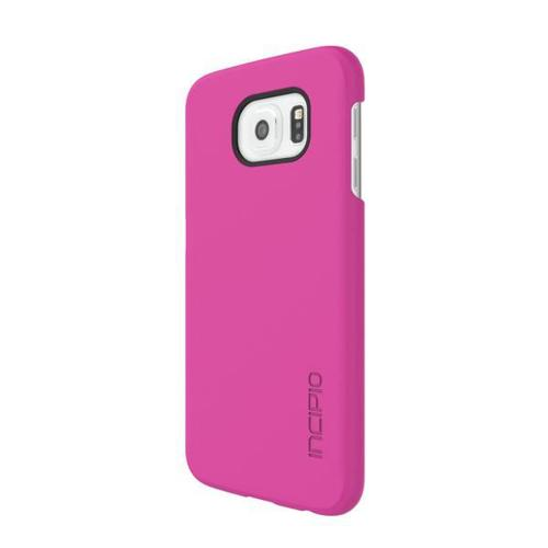 Samsung Galaxy S6 Case, Incipio [Pink] FEATHER Series Slim & Protective Rubberized Matte Finish Snap-on Hard Polycarbonate Plastic Case Cover