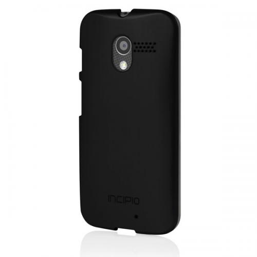 Incipio Black Motorola Moto X (2014 2nd Gen) Feather Shine Series Hard Cover Case w/ Aluminum Finish - MT-242