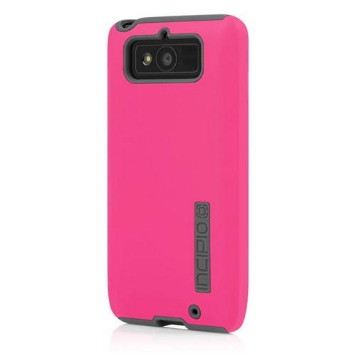 Incipio Hot Pink/ Gray Dual PRO Series Rubberized Hard Case on Silicone Skin for Motorola Droid Mini - MT-267