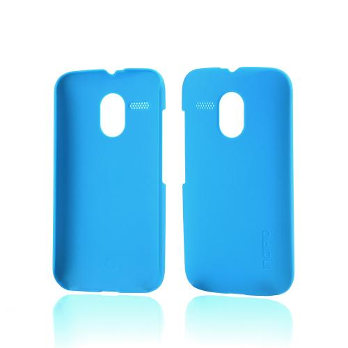 Incipio Sky Blue (Cyan) Feather Series Rubberized Hard Case for Motorola Moto G - MT-333-CYN