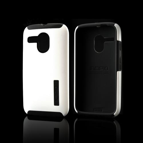 Incipio White Dual PRO Series Rubberized Hard Case on Gray Silicone Skin for Motorola Moto G - MT-335-WHT