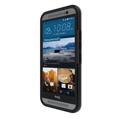 HTC One M9 Case, Incipio [Black] DUAL PRO Series Dual Layer Rubberized Hard Cover on Silicone Skin Protective Hybrid Case