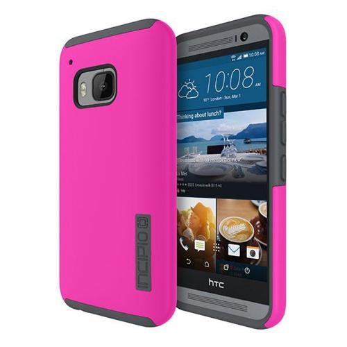 Incipio Pink/ Gray HTC One M9 Dual PRO Series Dual Layer Rubberized Hard Case on Silicone Skin Case [HT-416-PKCH] - Great Dual Layer Protection!