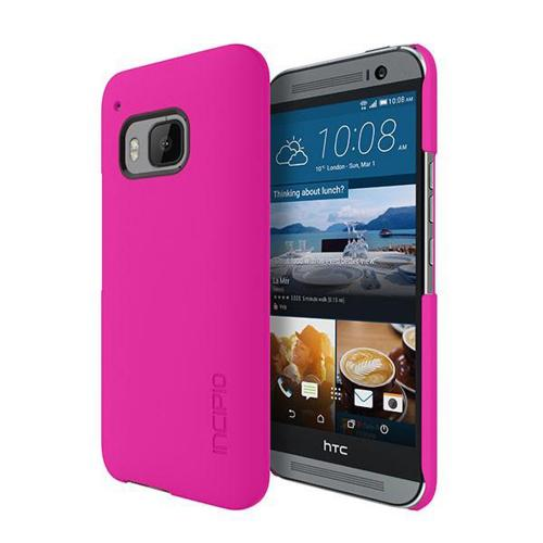 HTC One M9 Case, Incipio [Pink] FEATHER Series Ultra Thin Rubberized Hard Cover Case