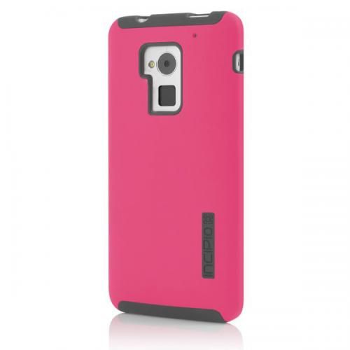 Incipio Hot Pink/ Gray DualPro Series Hard Cover Over Silicone for HTC One Max - HT-394-PNK