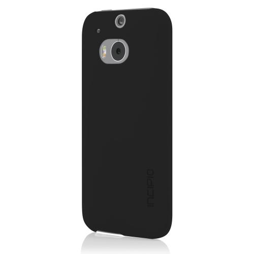 Incipio Black Feather Series Rubberized Hard Case for HTC One (M8) - HT-397-BLK
