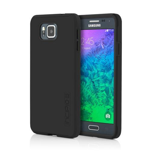 Incipio Black Samsung Galaxy Alpha Dual PRO Series Rubberized Hard Case on Silicone Skin Case {SA-572-BLK} - Fantastic Protection!