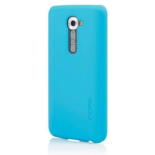 Incipio Cyan (Turquoise) Feather Series Rubberized Hard Case for LG G2 (Verizon Version) - LGE-214-CYN