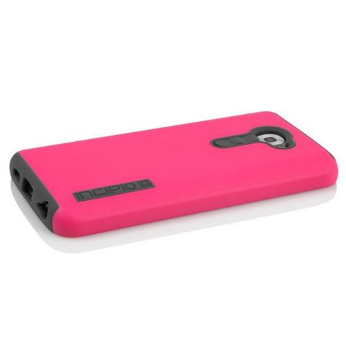 Incipio Hot Pink/ Gray Dual PRO Series Rubberized Hard Case on Silicone for LG G2 (Verizon Version) - LGE-215-PNK