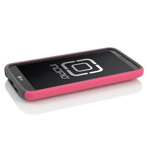 Incipio Hot Pink/ Gray Dual PRO Series Rubberized Hard Case on Silicone for LG G2 - LGE-218-PNK