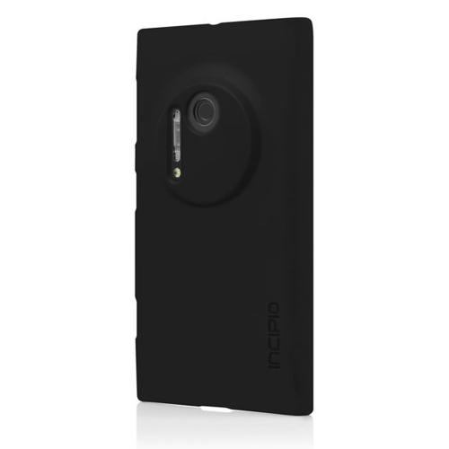 Incipio Black Feather Rubberized Hard Case for Nokia Lumia 1020 - NK-175-BLK