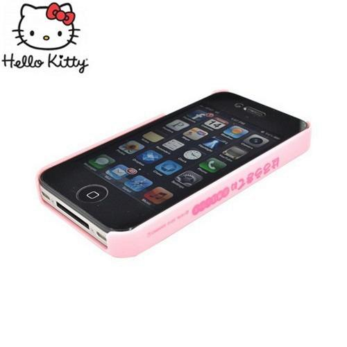 Officially Licensed Sanrio Hello Kitty Apple iPhone 4/4S iDress Bling Hard Case, ID-93KT - Kimono Hello Kitty w/ Baby Pink/Silver Gems
