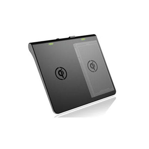 Tenergy Black Dual Channel Qi Wireless Charger w/ Extra USB Port - Charge 3 Devices at the Same Time!