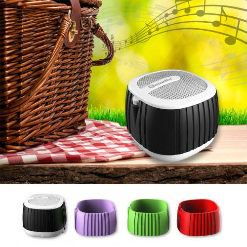 Qmadix Q.POP Bluetooth Mini Speaker - Portable Music Player and Speaker Phone