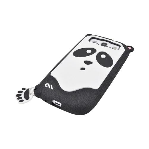 OEM Case-Mate Samsung Galaxy S3 Xing Creatures Silicone Case - Cute Black/ White Panda Bear
