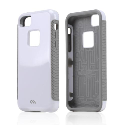 Case-Mate White/ Gray Pop! Series Hybrid Hard Case for Apple iPhone 5C - CM029155