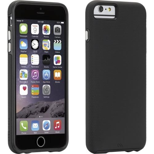 [case-mate Tough Series] Hybrid Case [black] Slim Protective Rubberized Hard Case On Silicone Skin Case [Fitting Apple Iphone 6 Plus (5.5 In)Case]