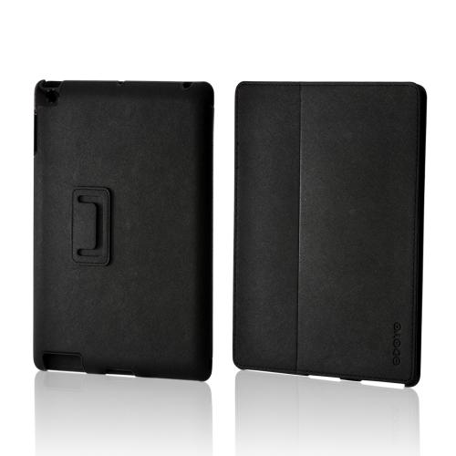 Odoyo Black Faux Leather Case Stand AirCoat Series for Apple iPad (2nd, 3rd & 4th Gen.)