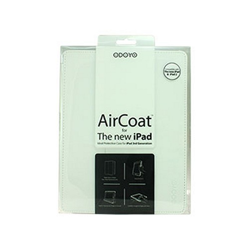 Odoyo Aircoat Folio Series White Hard Case Stand for Apple iPad 2/3/4