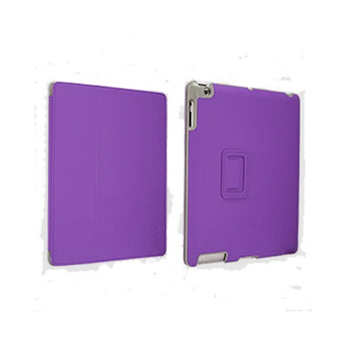 Odoyo Aircoat Folio Series Purple Hard Case Stand for Apple iPad 2/3/4