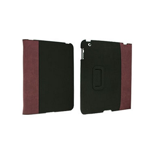 Odoyo Slimcoat Soft Folio Series Purple/ Espresso Leather Stand Case for Apple iPad 2/3/4