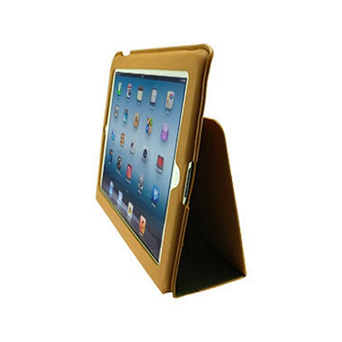 Odoyo Slimcoat Soft Folio Series Green/ Cappuccino Leather Stand Case for Apple iPad 2/3/4