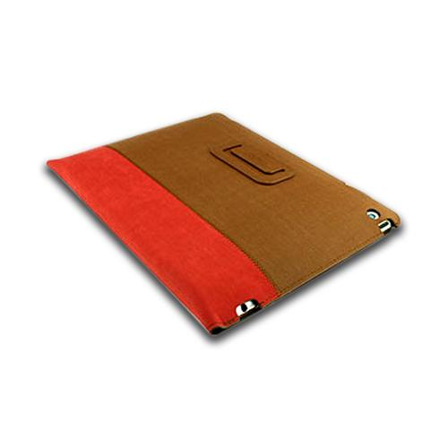 Odoyo Brown/ Red Leather Case Stand Slim Coat Series for Apple iPad (2nd, 3rd & 4th Gen.)
