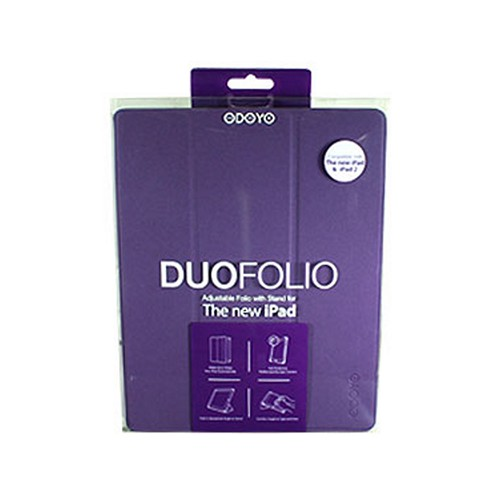 Odoyo Duofolio Series Purple Hard Case Stand for Apple iPad 2/3/4